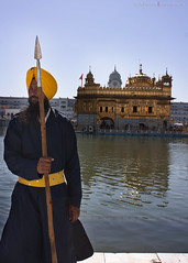 sacred warrior (supersujit) Tags: travel india canon religon sikh punjab amritsar goldentemple waheguru khalsa satnam 450d canon450d sikhhism