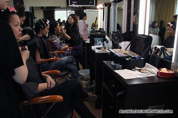 Arrived at the Make Up For Ever Academy make up studio