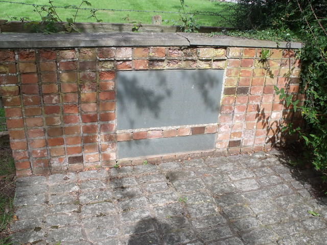 Jubilee Walk, Shottery (near Stratford) - foundation stone by ell brown
