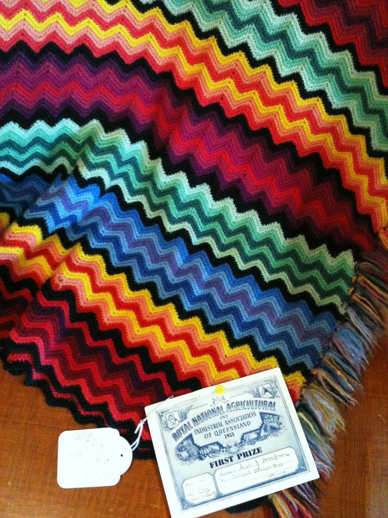 the world's best photos of blanket and missoni  flickr hive mind - vintage prizewinning blanket (rettgrayson) tags vintage ripple crochetblanket afghan zigzag