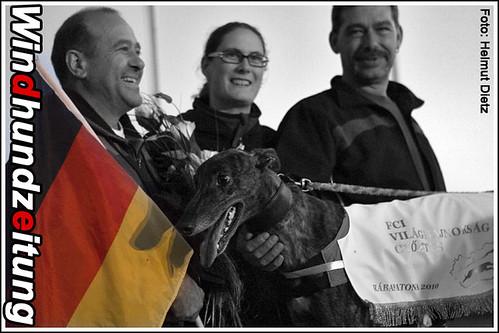 FCI Greyhound Weltmeister 2010: Quo Vadis vom Monarchenhügel