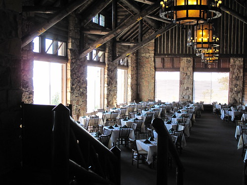 The dining room at the Grand Canyon North Rim Lodge