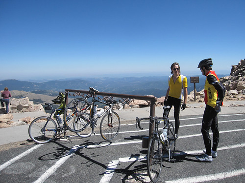 Bicycle rack at the summit