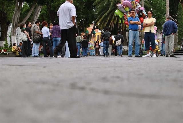 El Zocalo In Puebla (Ant Shot)