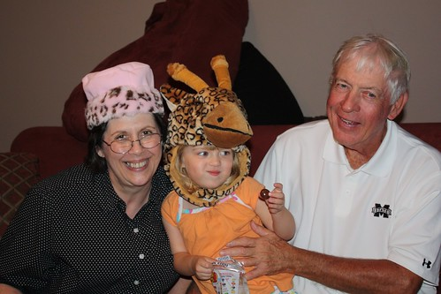 Mimi joins in with the hat-wearing