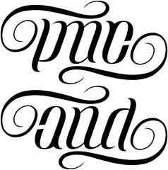 """LMC"" & ""AND"" Ambigram"