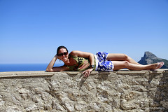 Formentor Mary Pose (Guestobal) Tags: summer vacation canon island holidays balearic maiorca canoneos7d guestobal