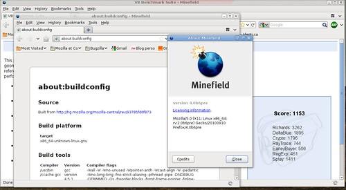 """1153 points dans v8 avec Firefox """"classique"""""""