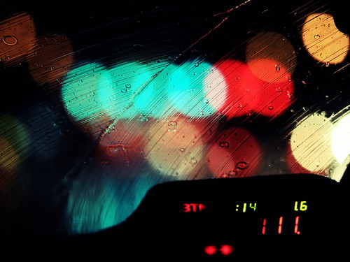 A big Bokeh from a taxi