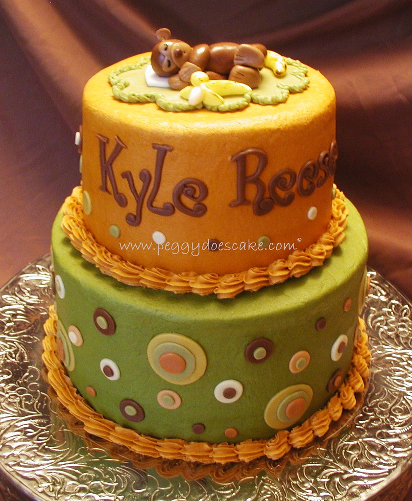 Mod Pod Pop Monkey baby shower cake