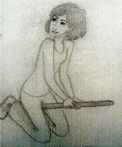 Alexandra on a Broom