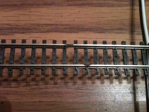 Flex track marked for soldering