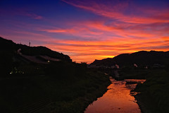 Shimoda Sunset (/\ltus) Tags: sunset moon japan lumix venus panasonic  onsen shimoda  shizuokaken   hotspringbath dmclx5
