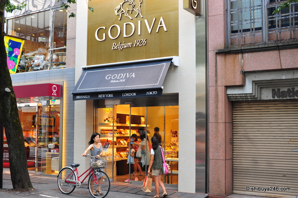 Time to stop in and pick up some chocolates from Godiva