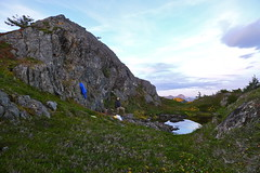 Alpine Camp at sunset