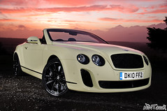 2010 - 2011 Bentley Continental Supersports Convertible In Light Yellow (NWVT.co.uk) Tags: road uk light sunset wild black beauty car yellow painting out nikon long exposure photographer with dusk continental convertible automotive hampshire most exotic chrome 200 plus british ever powerful creating mph supercar sb bentley 900 exotica based 2010 citric the in supersports 2011 strobist nwvt