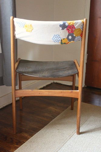 Danish Chair, Reupholstered (Back)