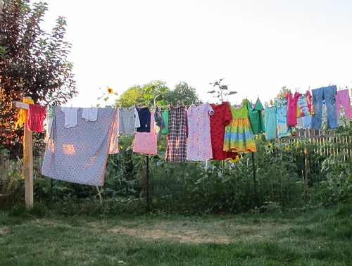 An especially colorful clothesline today