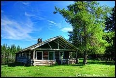 HDR #799 - Log Cabin (Pete's Photo Magic) Tags: old house canada abandoned barn vintage psp wooden log pentax alberta hdr topaz photomatix k20d oncewashome