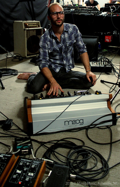 Sean of Tegan & Sara @ Moog Sound Lab