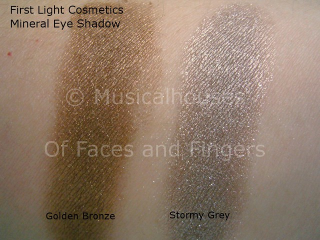 first light cosmetics golden bronze storm grey
