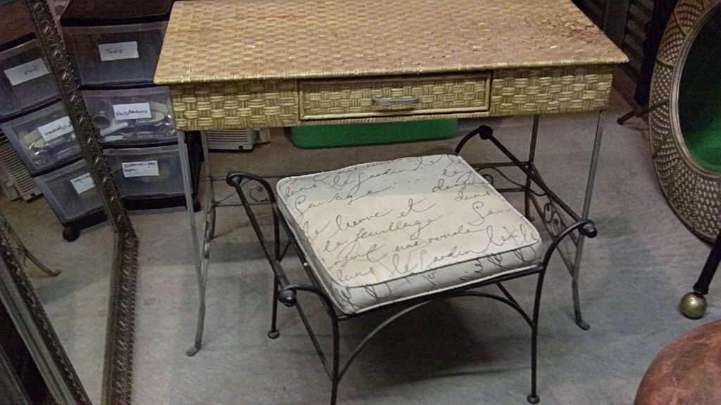 Bamboo Table & Stool (Pier 1 Imports) - SOLD