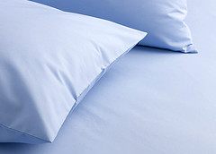 Egyptian Cotton Sheet in Light Blue