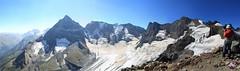 Домбай, панорама в стору Белалакайя (brat_krr) Tags: sky panorama mountain snow ice rock trekking hiking top climbing pick панорама dombay пик домбай кап белалакайя