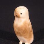 """<b>Owl</b><br/> Unknown, Eskimo American (ivory, ca. 1975) LFAC#2008:01:09<a href=""""http://farm5.static.flickr.com/4151/4996385331_48efd0a413_o.jpg"""" title=""""High res"""">∝</a>"""