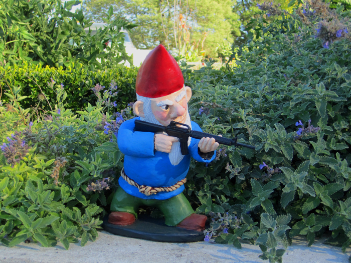 Garden Gnomes On Sale: When My Brain Leaks, The Drops Drip Here.: COMBAT GARDEN