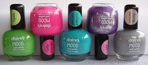 5 Claire's Mood polishes #1