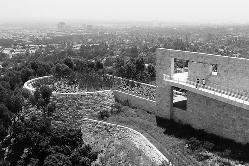 the getty in black and white