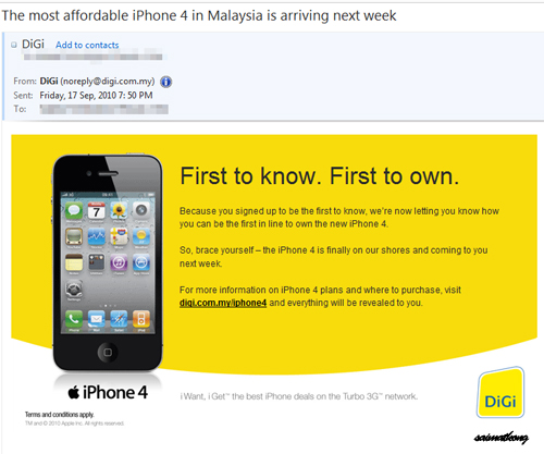 The most affordable iPhone 4 in Malaysia is arriving next week