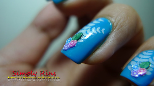 Nail Art Something Blue 07