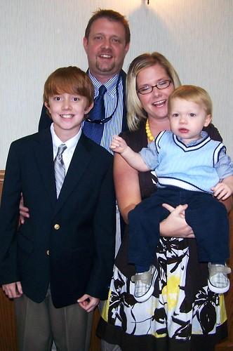 100912 Xander's Baptism 01 - Matt + Spencer + Holly + Coleman