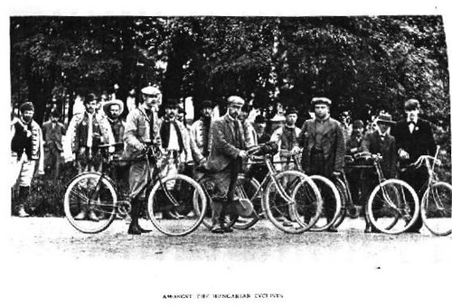Bike traveler 1900, in Hungary