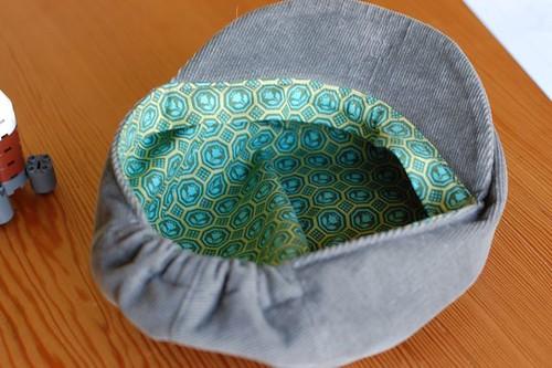 huck finn cap inside view