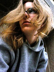(Corinna A. Carlson) Tags: woman me hair sadness glasses pain lashes grain lips blonde breeze pixels trackhoodie