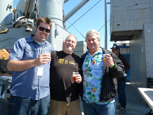 Rich Higgins, me and Hop-Meisters hop farmer Marty Kuchinski