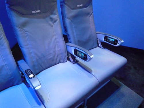 Recaro Seats with Panasonic In Arm IFE