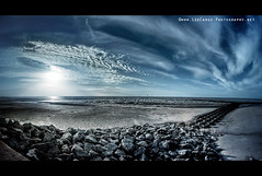 Another World (Lee Carus) Tags: world new sunset sea irish beach clouds brighton sony fisheye alpha f28 defences a900