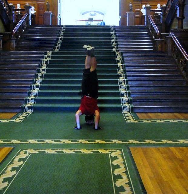 Ontario Legislative Building Headstand