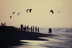 Kitesurfers at Juno Beach
