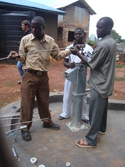 Care compassion home-joining of pump rods during pump attachment.