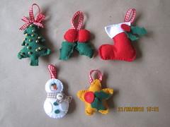 Enfeites (Artes da Sarita) Tags: natal feltro