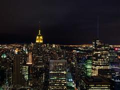 Top of the Rock, New York City (MattSherman) Tags: new york city nyc newyorkcity nightphotography building night photography state manhattan rockefellercenter center empire empirestatebuilding rockefeller topoftherock