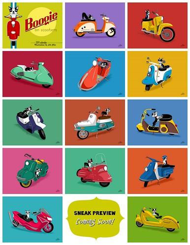 BOOGIE ON SCOOTERS - 2011 calendar - Sneak Peek
