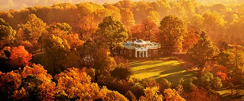 Monticello with Fall Foliage