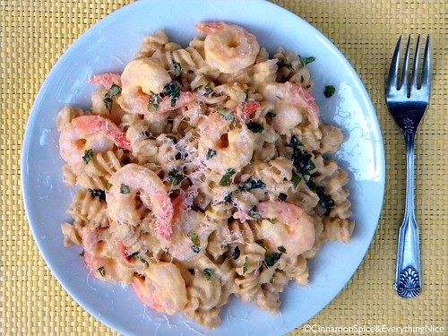 Pasta with Winter Squash and Shrimp