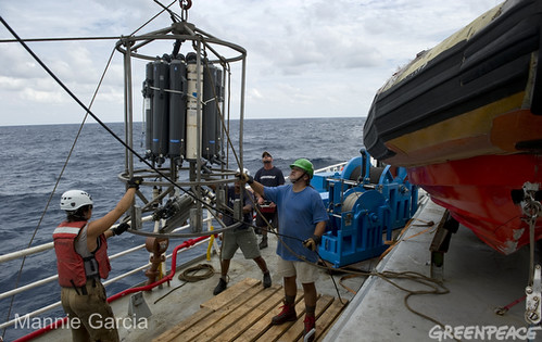 CTD Unit Retrieved on the Arctic Sunrise
